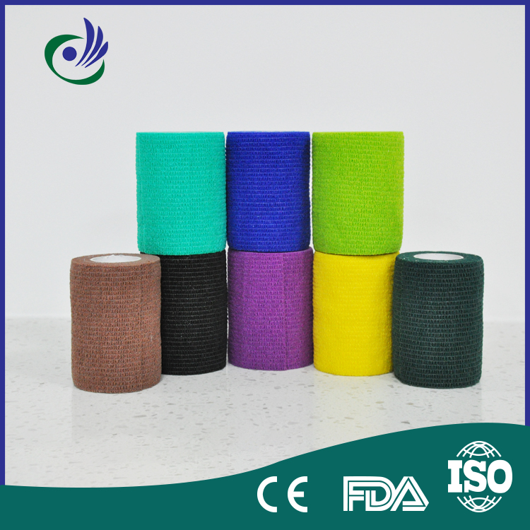 Cohesive tape cotton bandage roll