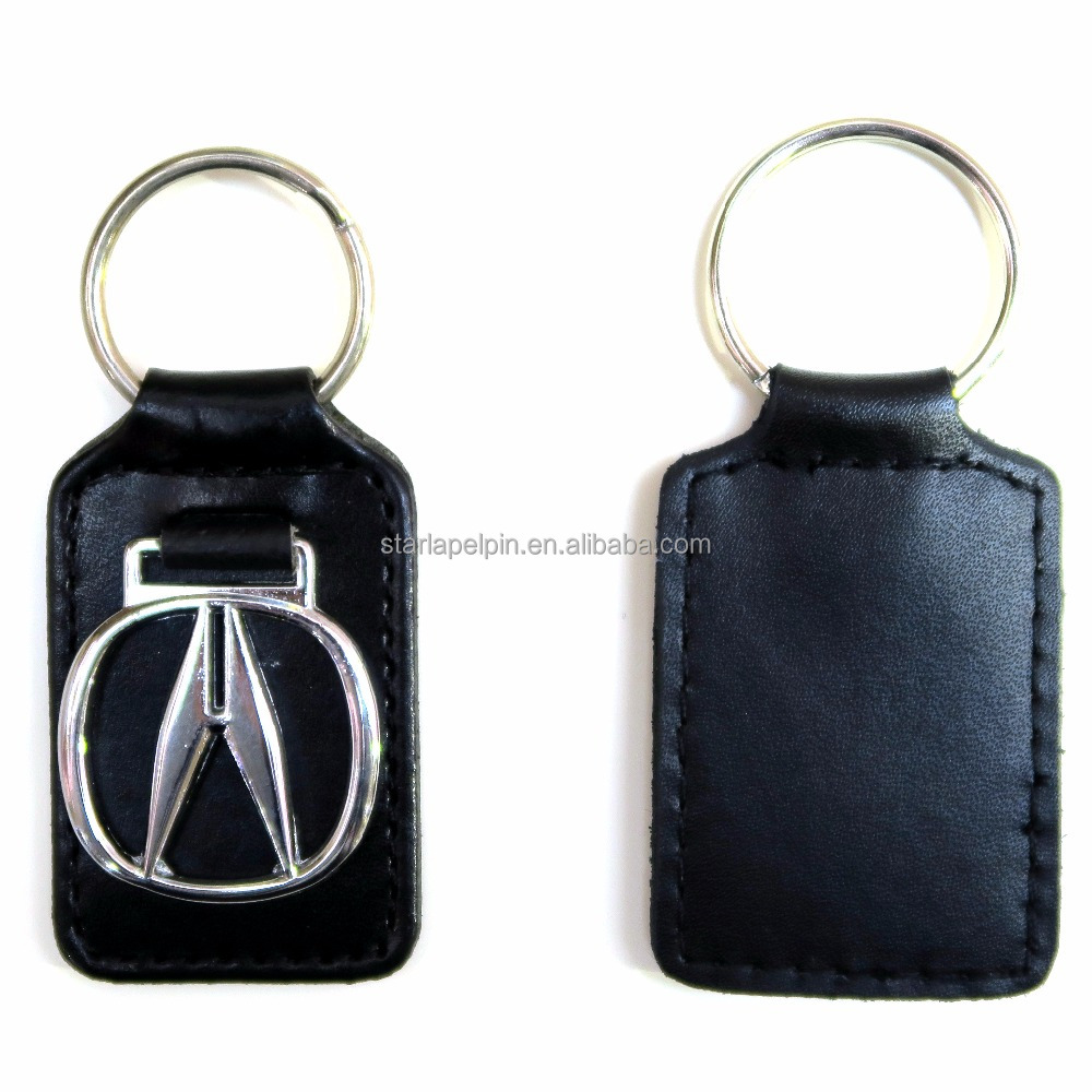 promotional smart decorative cheap custom logo car leather key tag holder