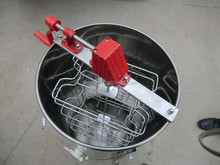 2 frame honey extractor with more sticks of basket