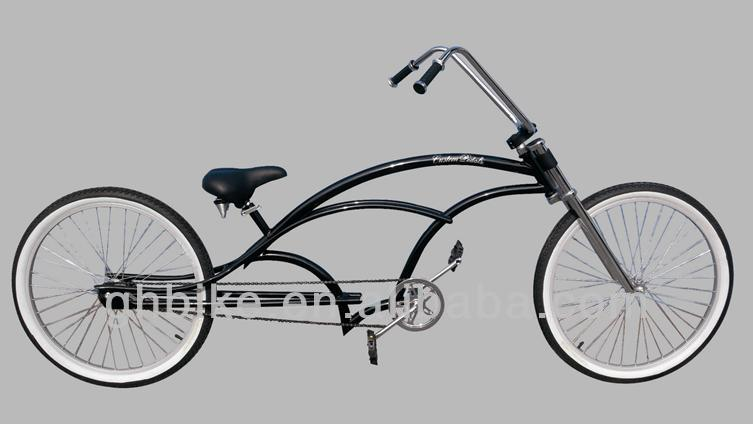 26'' long beach cruiser bike bicycle chopper cruiser cycling man's beach cruiser