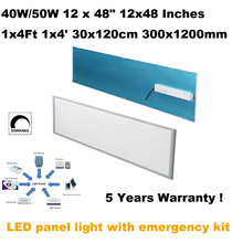 "40W 50W 12 x 48"" 12x48 Inches 1x4 ft 1x4' 30x120cm 300x1200mm Energy saving rechargeable led panel light emergency lighting lamp"