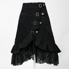designer fashion <strong>skirts</strong> metallic emo wholesale shop gothic clothes for women