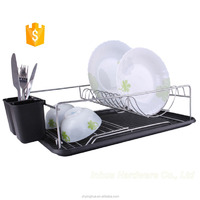 Orange Color Dish Rack Organizer