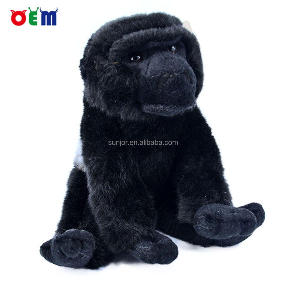 Large small size soft stuffed gorilla plush natural world toy animals