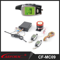 Long Contral Distance CFMC09 Two way 12V Universal Alarm System for Motorcycle with LCD Remote Controller