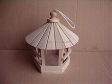 Garden Decorative Hanging Wood Cage Bird house