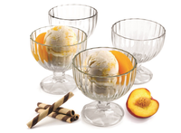 Clear Glass, Ice Cream Dessert Bowls - Set of 4 - 9 Oz.