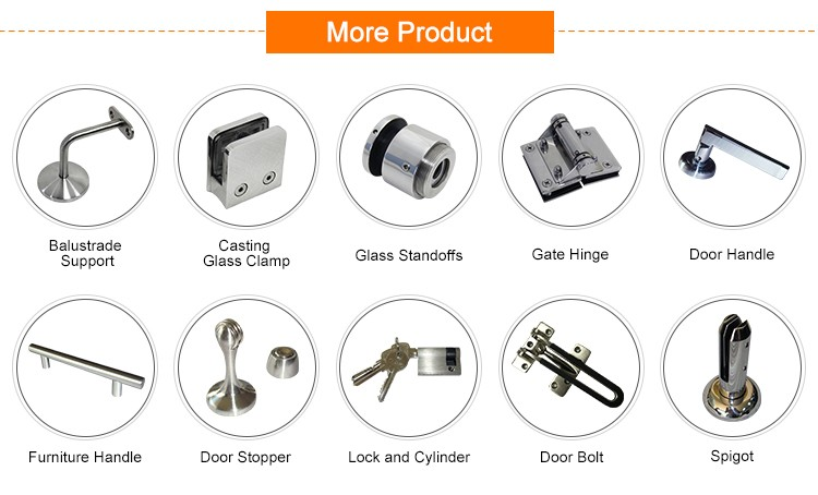 China Factory supply SS304/316 Casting Balcony Stainless Steel Wall Mounted Glass Clamp