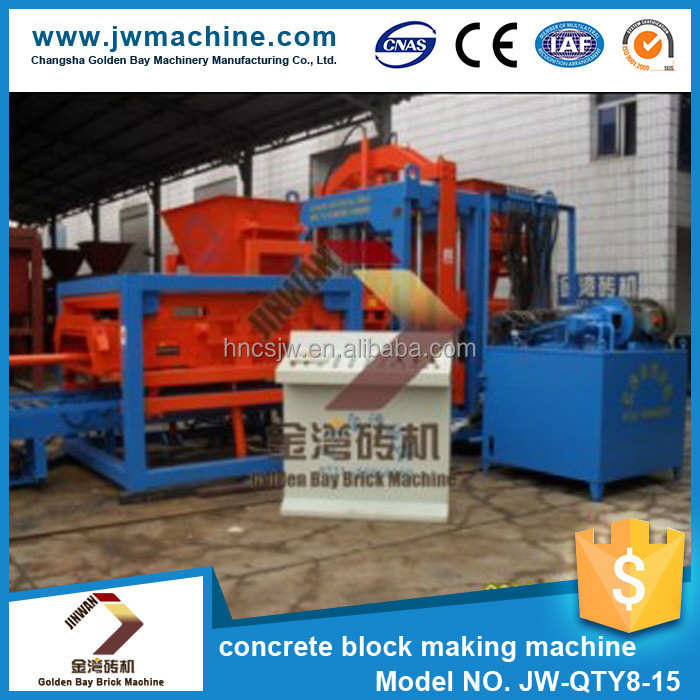 China brick marker JW-QTY8-15 construction concrete block making machine