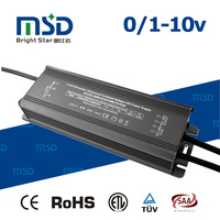 0-10V dimming led power transformer 24V 50W constnat voltage 0-10V PWM dimmable 30-250W waterproof led driver