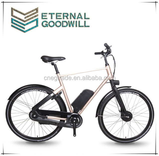 "2015 low price 3 speeds 28"" aluminum city electric bicycle lithium battery adult electric bike for man and woman"
