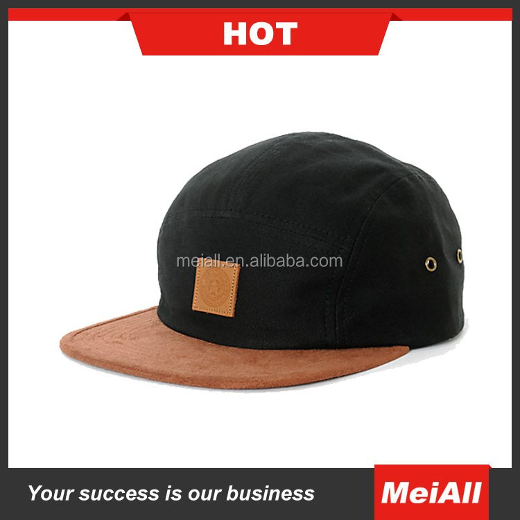 wholesale custom made promotional five panel 5 panel woven label snapback hat