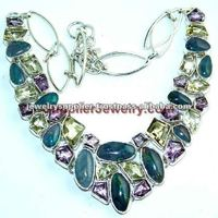 Pure !! 925 Jewelry With Precious And Semiprecious Stone Online Stores Vintage Costume Funky Jewellery