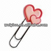 lapidem mandrel style make bookmarks in heart shape design pink color bookmark for book sales2013
