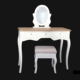 Bedroom furniture french style white dressing table in set