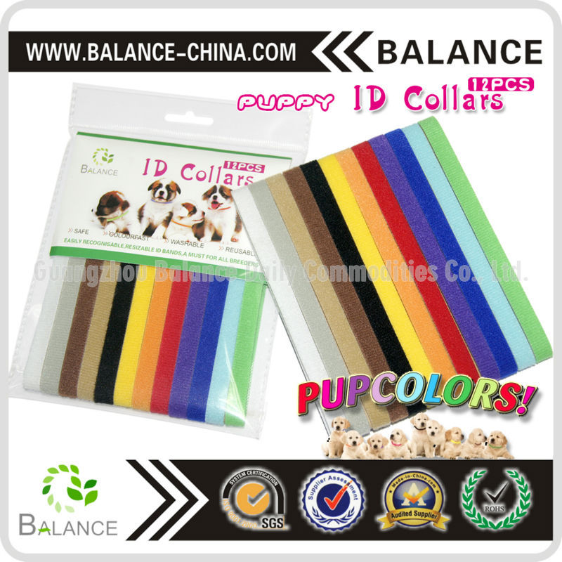 colorful pet dog collar soft nylon puppy collar with custom size
