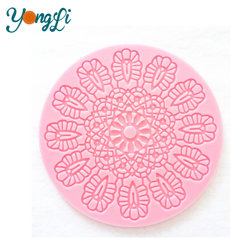 Soft Silicone Embossing Lace Wedding Cake Mat