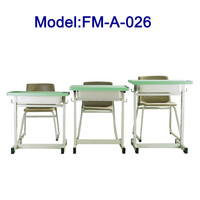 No.FM-A-026 Metal frame school desk and chair
