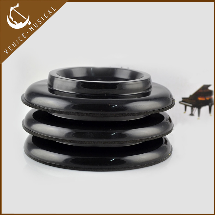 black plastic grand piano caster cup made in China