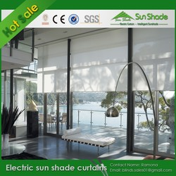 Custom made discounting Electric sun shade curtains /Motorized sun shade curtains