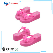 Summer Elegant Lace Bow Decoration Flowers Ladies Platform Slippers