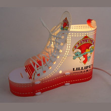 Newest style christmas shoes type Warm reading shoes laces outlook led light shoes