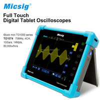 Micsig Digital Tablet Oscilloscope TO1074 with 70 MHz 4CH 14Mpts high performance for automotive