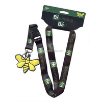 Wholesale Cheap Custom Beautiful Neck Lanyard with Card/Detachable Lanyard Keychain or Charm