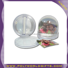 Acrylic Snow Globe with photo frame insert snow ball water ball