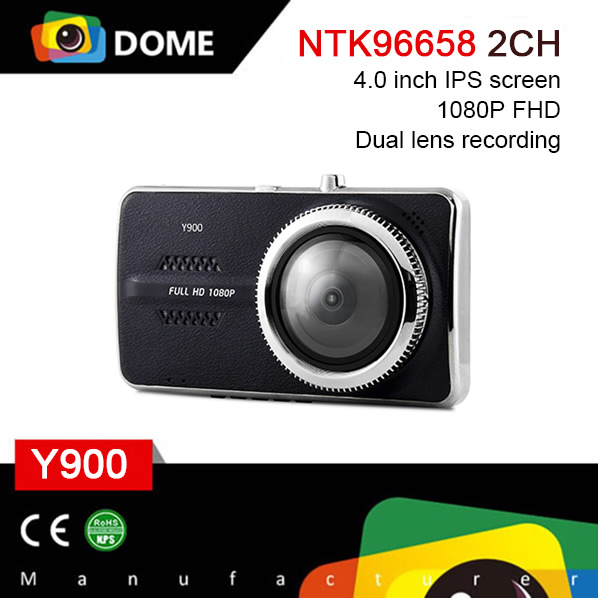 4'' IPS Screen Hidden Camera for Car Dual Lens Dash Cam FullHD 1080P Vehicle Video Recorder