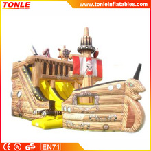 Pirate ship inflatable dry Slide for event