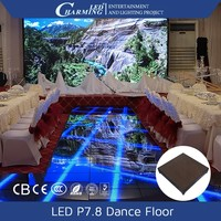 rgb digital acrylic portable led video dance floor for night club/DMX led stage light