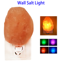Natural Household Salt Lamp Himalayan Amber Air Purifier Glow Night Light for Home