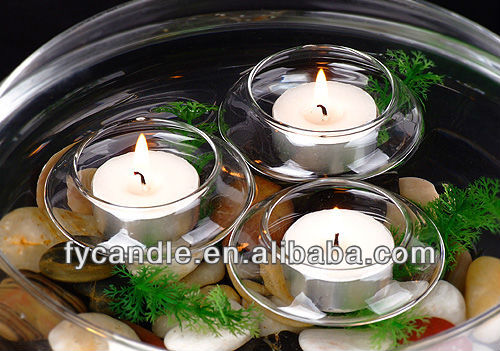 Candle Manufacture / wholesale white wax waterproof unscented candle tealight lamp with metal tin
