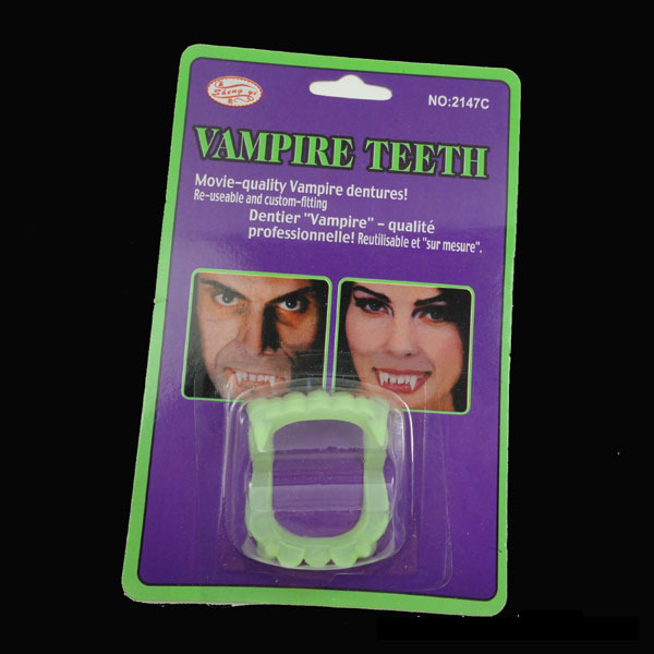 YIWU caddy HP-62 funny halloween party vampire fangs, fake teeth