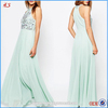 Latest custom high quality evening dresses long chiffon beaed ladies western gowns party dresses