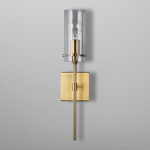 Simple designs clear glass cylinder burnished brass fancy wall sconce lamp for bathrooms bedroom hotel room