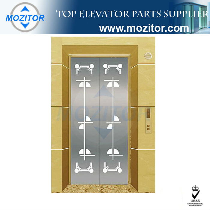 Luxury decorative sliding door panel for commercial elevators