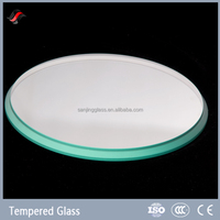 Tempered flat clear glass circles
