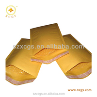 Gold kraft bubble envelopes, Recycling paper mailer padded bags 120gsm paper