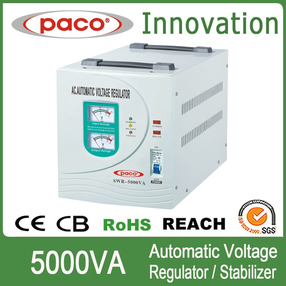 UPS voltage stabilizer 5000VA with input and output meter display,CE CB ROHS certificate