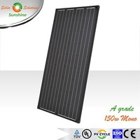Sunshine 150w Mono A Grade Black Solar Panel Solar Module for 12V Solar Power System/Street Light/Battery Charging