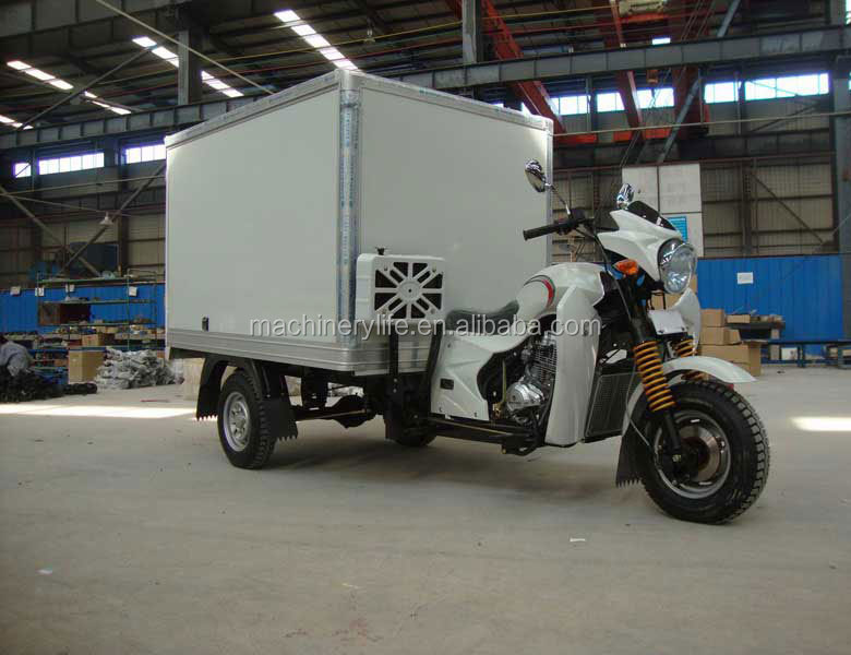 Manufacturer Price 150cc to 200cc Container Type Van Truck Cargo Tricycle