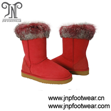 7035 double face sheepskin 2016 pink fur winter boots for women