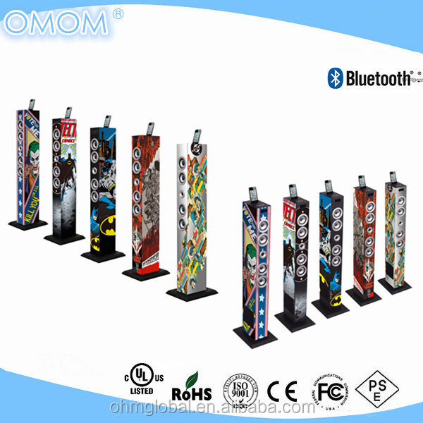 OHM-1608i 2.1CH full color printing integrated subwoofer floor standing Bluetooth speakers