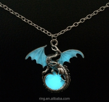 Game of Throne dragon Punk Luminous Dragon Pendants Necklaces GLOW in the DARK