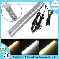 USB DC5V dimmable 4.8W SMD5630 Hard Strip cold White Light Tube Lamp with 150cm cable