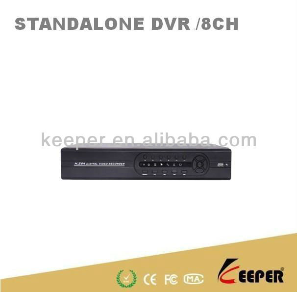 8CH Digital Video Recorder H.264 Network DVR 2ch D1 and 6ch CIF real time recording,8ch playback