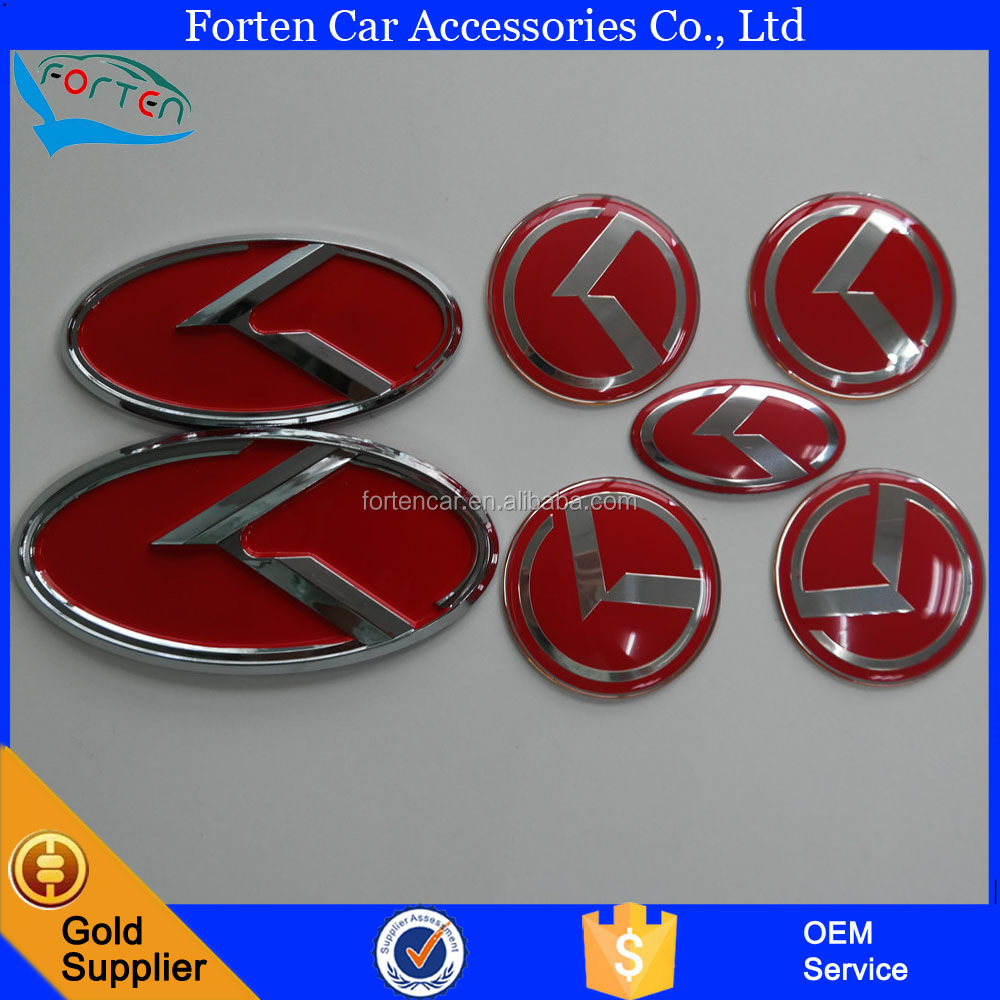Custom Set Refit Car Front Rear Steering Wheel Center Cap Badge Emblem