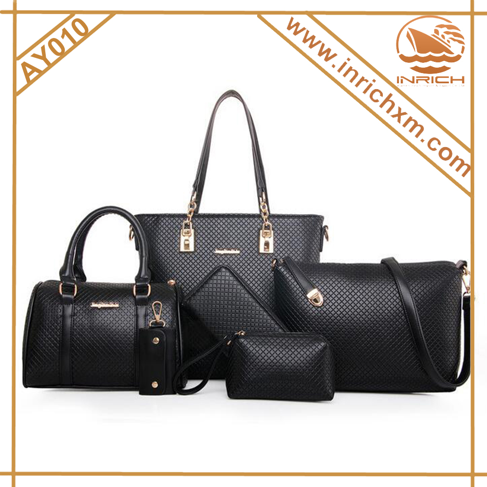 Best Seller New Pattern 6pcs Synthetic Leather Ladies Handbag Online Shopping